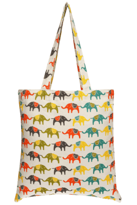 BACK TO EARTH Elephant Print Bag