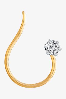 VELVETCASEWomens 18 Karat Yellow Gold Nose Ring (Free Diamond Pendant) - 201064971