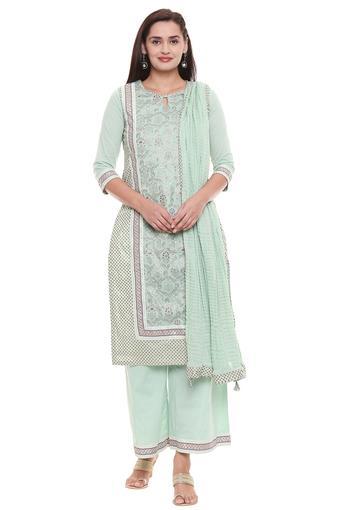 BIBA -  GreenSalwar & Churidar Suits - Main