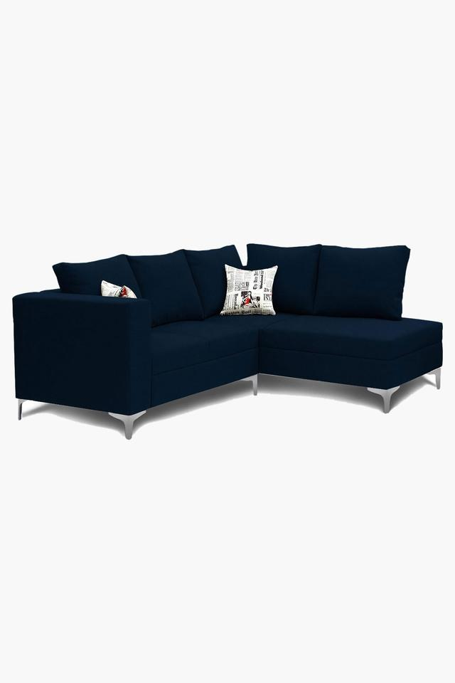 Light Blue Water Repellent Fabric Sofa (2 Seater - 1 Lounger)