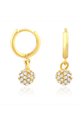 MAHIMahi Gold Plated Royal Gold Sparklers Earrings With Crystal Stones For Women ER1108371G