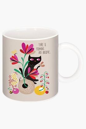 CRUDE AREA Take A Moment Printed Ceramic Coffee Mug  ...