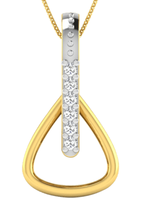 SPARKLES His & Her Collection 18 Kt Pendant In Gold & Real Diamond HHP9606