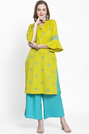 VARANGA -  Lime GreenSalwar & Churidar Suits - Main