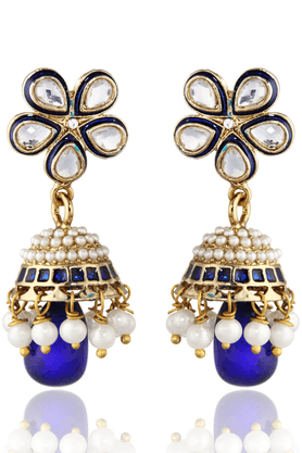 ZAVERI PEARLS Exclusive Traditional Bollwood Jhumki Earring - ZPFK1366