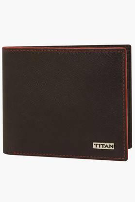 TITAN Mens Leather 1 Fold Wallet - 201568684_9126