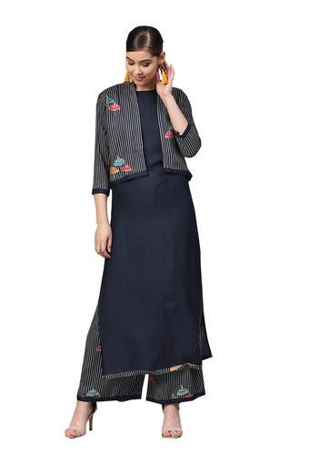 ISHIN -  Midnight BlueSalwar & Churidar Suits - Main
