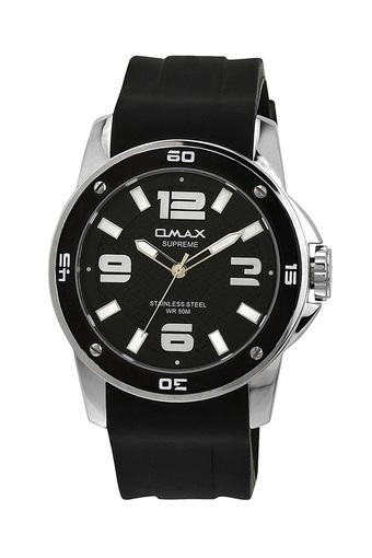 Mens Sporty Black Dial Silicone Analogue Watch - FA9-SS447