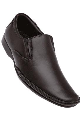 FRANCO LEONEMens Brown Leather Formal Slipon Shoes