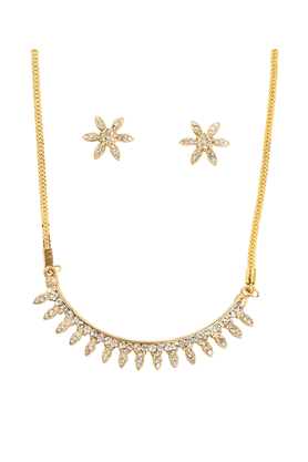 TOUCHSTONE Necklace Set -Mangalsutra Style - 8616233
