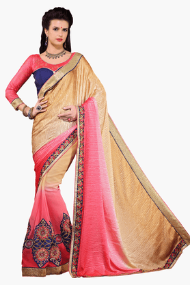 DEMARCA Womens Embroidered Saree - 201151779