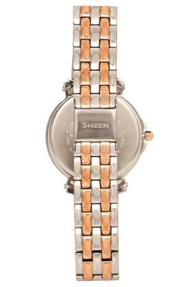 Womens White Dial Metallic Multi-Function Watch - SX144