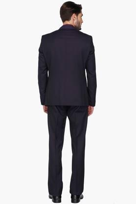 Mens Solid Single Breasted Suit