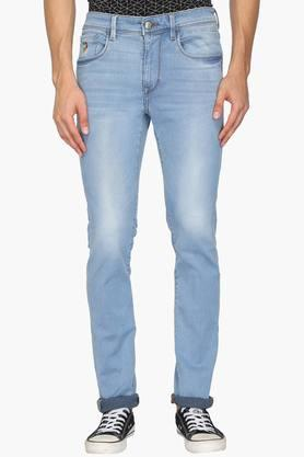 U.S. POLO ASSN. DENIMMens Skinny Fit 5 Pocket Mild Wash Jeans (Regallo Fit)