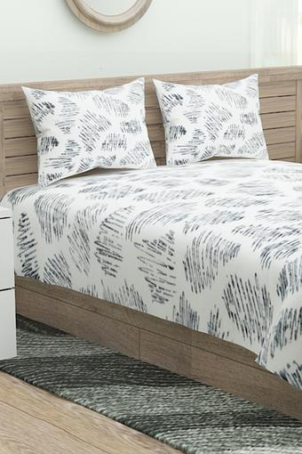 Printed Double Flat Bed Sheet with Pillow Cover
