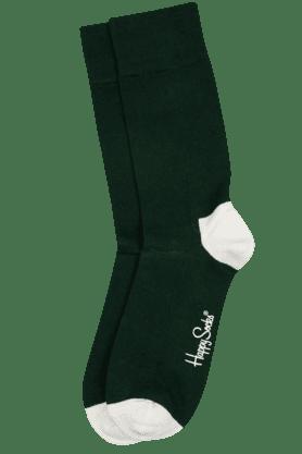 HAPPY SOCKSMens Cotton Stretch Solid Socks