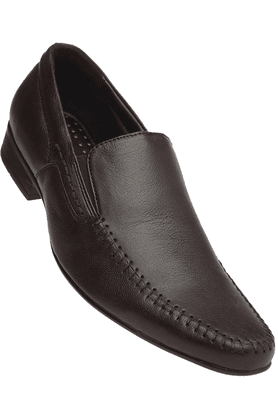 STOP Mens Brown Mix Slipon Formal Shoe