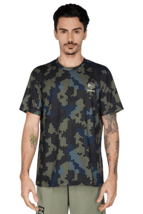 REEBOK Mens Round Neck Short Sleeve T-Shirt
