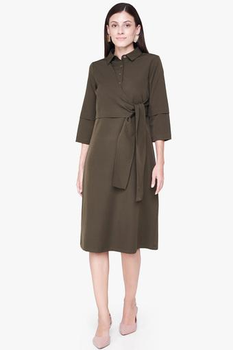 AND -  Olive Dresses - Main