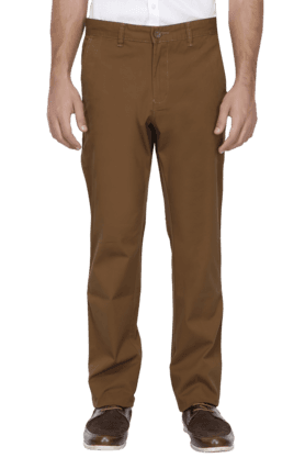 ALLEN SOLLYMens Slim Fit Solid Chinos