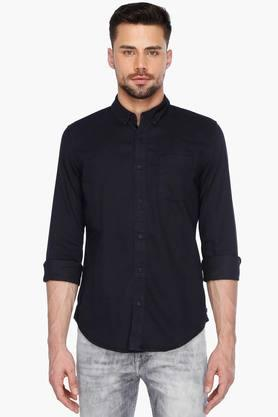 Calvin Klein Jeans Formal Shirts (Men's) - Mens Full Sleeves Casual Solid Shirt