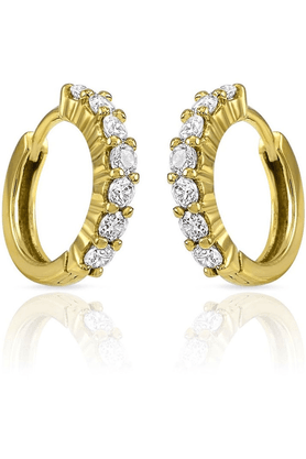 MAHI Mahi Gold Plated Radiance Delight Earrings Made With CZ Stones For Women ER1102337G
