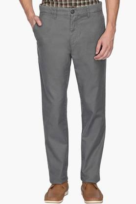 U.S. POLO ASSN. Mens Slim Fit 5 Pocket Slub Formal Trousers