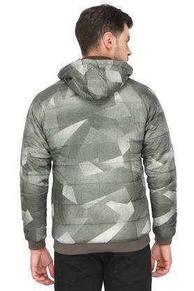 Mens Hooded Neck Printed Reversible Jacket