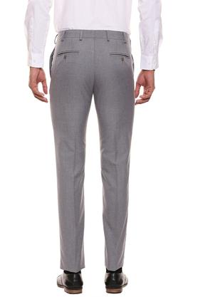 RAYMOND - Grey Formal Trousers - 1