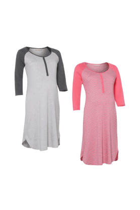 MOTHERCARE Maternity Cotton Dresses - Pack Of 2