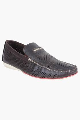 RED TAPE Mens Leather Slip On Casual Loafers - 9581100