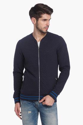 JACK AND JONESMens Mao Collar Solid Sweatshirt