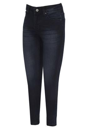 Girls 5 Pocket Whiskered Effect Jeans
