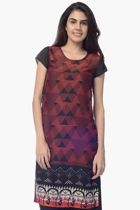 DESI BELLE Womens Printed Round Neck Kurta - 201828940