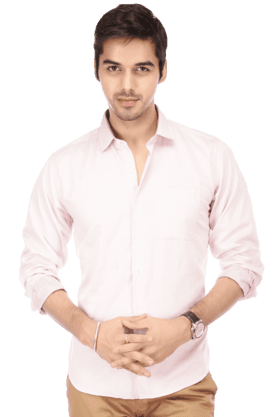 Mens Full Sleeves Slim Fit Casual Honeycomb Shirt