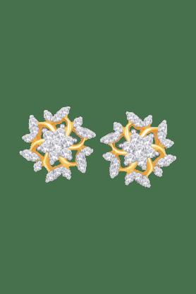 NAKSHATRAWomens 18KT Gold & Diamond Earring - 200960447