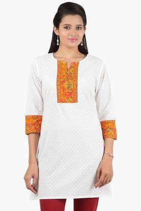 JASHN Women Ethnic Motif Cotton Kurta  ...