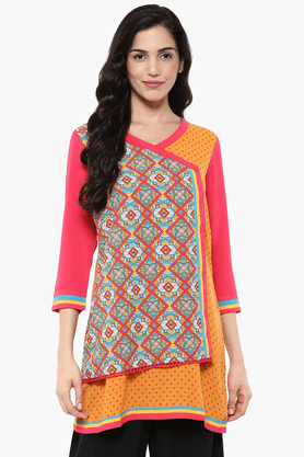 FUSION BEATS Womens Slim Fit Printed Tunic - 201553301