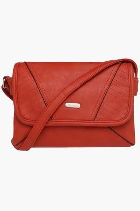 LAVIE Womens Synthetic Leather Snap Closure Sling Bag