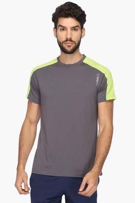 REEBOKMens Round Neck Colour Block T-Shirt