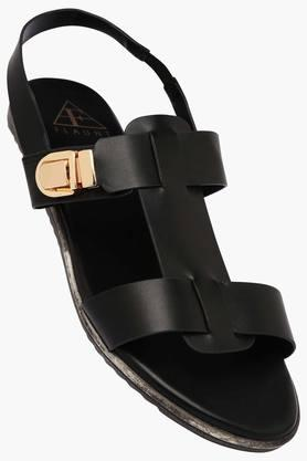 FEMINA FLAUNTWomens Daily Wear Ankle Button Closure Flat Sandal