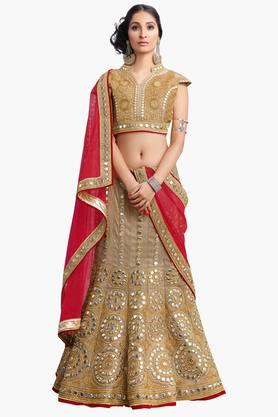 MAHOTSAV Womens Embroidered Semi-stitched Lehenga Choli - 201661622
