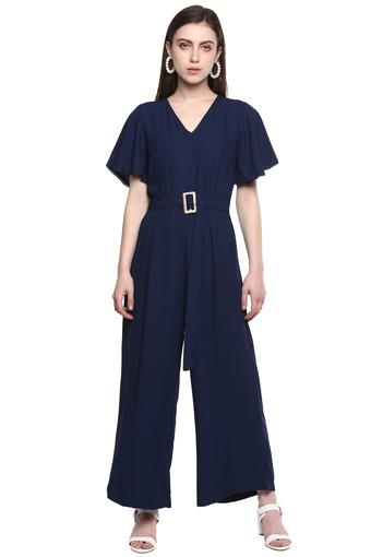 FRATINI WOMAN -  Navy Palazzos & Jumpsuits - Main