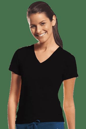 Women Cotton V-Neck T-Shirt