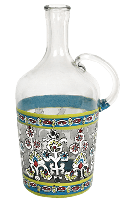 ADARA Indi Glass Painted Jug Vase