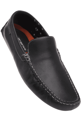 RED TAPE Mens Black Toned Slipon Casual Loafer
