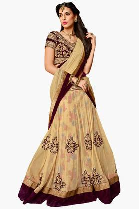 MAHOTSAV Womens Embellished Semi-stitched Lehenga Choli - 201643973