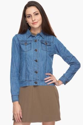 Womens Basic Casual Denim Jacket