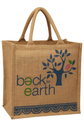 BACK TO EARTH Lace Small Jute Bag