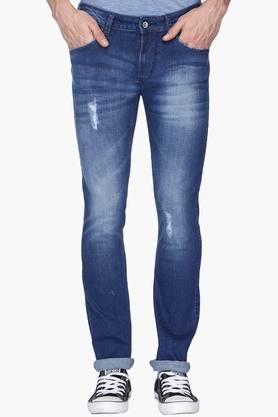 FLYING MACHINE Mens Slim Fit Heavy Wash Jeans (Michael Fit) - 201331542